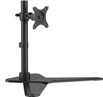 "Free Standing Single Monitor Mount LCD Desk Bracket 10""-30"" Inch PC Computer Screen Adjustable Tilt Rotate VESA 75x75 100x100 Max Load 44 Lbs"