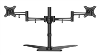 "Dual Monitor Mount for 2 LCD Screens  10""-30"" Inch w/ Cable Management Tilt Adjust VESA 75x75 100x100 Max Load 44 Lbs"