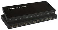 2x8 HDMI Splitter/video Matrix, Amplified (2 In/8 Out) w/ 3D Support
