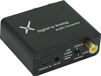 XtremPro Digital to Analog Audio Converter w/ USB Power Cable and AC Adaptor - Black (65002)