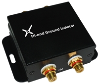 XtremPro Hi-end Ground Loop Noise Isolator / Filter for Car Audio / Home High-fidelity System - Black (65042)
