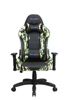 Camo Chair High Backrest Ergonomic Gaming Office Computer Adjustable Recliner Swivel Seat Green Camouflage Leather