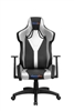 Galactica Chair High Backrest Ergonomic Gaming Office Computer Adjustable Recliner Swivel Seat Silver/Black Leather