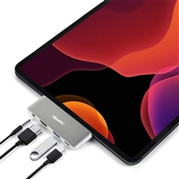 "USB C Hub Adapter for 2018 2019 iPad Pro 12.9"" 11"", 4-in-1 Mini Type C Hub with USB C to HDMI 4K , PD Charging, USB2.0, 3.5mm Headphone Jack Compatible with MacBook(Pro) 2019/2018/2017"