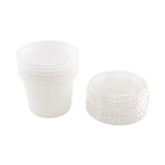 1 oz Plastic Cups with Caps