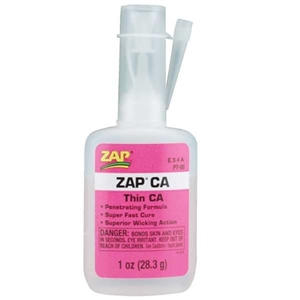 Adhesive - ZAP CA - Thin Viscosity - 1 oz