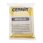 Cernit Metallic Polymer Clay - Gold 2oz (56g) block