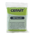 Cernit Metallic Polymer Clay - Green Gold 2oz (56g) block