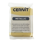 Cernit Metallic Polymer Clay - Rich Gold 2oz (56g) block