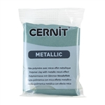 Cernit Metallic Polymer Clay - Turquoise Gold 2oz (56g) block