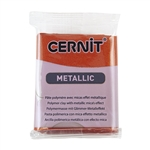 Cernit Metallic Polymer Clay - Copper 2oz (56g) block