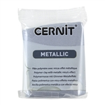 Cernit Metallic Polymer Clay - Silver 2oz (56g) block