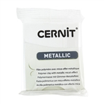 Cernit Metallic Polymer Clay - Pearl White 2oz (56g) block