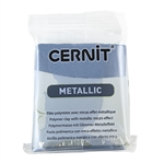 Cernit Metallic Polymer Clay - Steel 2oz (56g) block