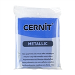 Cernit Metallic Polymer Clay - Blue 2oz (56g) block