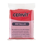Cernit Metallic Polymer Clay - Red 2oz (56g) block