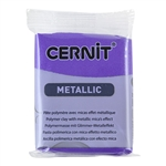 Cernit Metallic Polymer Clay - Violet 2oz (56g) block