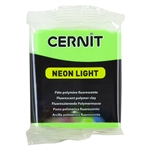 Cernit Neon Polymer Clay - Green 2oz (56g) block