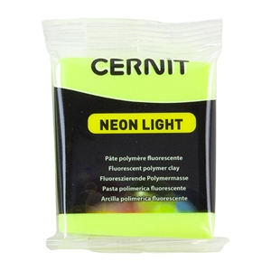 Cernit Neon Polymer Clay - Yellow 2oz (56g) block