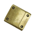 Antique Brass Plate Magnetic Clasp - Rivet 10mm