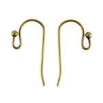 Antique Brass Earwires - 20mm with 2mm Ball