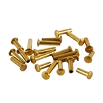 "Brass Miniature Rivet - 1/16"" Assorted Medium Shaft Lengths"