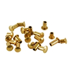 "Brass Miniature Rivet - 3/32"" Assorted Short Shaft Lengths"