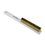 Brass Scratch Brush with Lucite Handle - 4 Row Soft