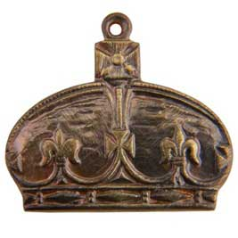 Brass Royal Crown Charm