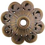 Brass Stamping - Filigree Flower Bead Pkg - 2