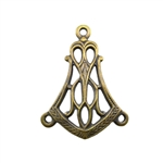 Brass Stamping - Filigree Bell Connector