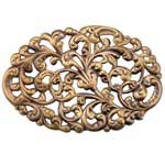 Brass Stamping - Acanthus Brooch Element