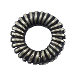 Bronze Plate Spacer - Coiled 6.5mm Pkg - 4