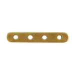 Bronze Plate Bar Spacer - Quadruple Strand 3mm x 17mm Pkg - 2
