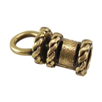 Bronze Plate End Caps - Swivel Fancy 3mm