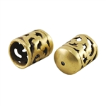 Bronze Plate End Caps - Filigree 7mm