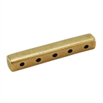 Bronze Plate End Bar - Quintuple Strand 4mm x 24mm - Pkg - 2