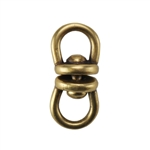 Bronze Plate Connector - Swivel 13mm x 6mm Pkg - 2