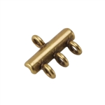 Bronze Plate Connector - 3-Strand 10mm x 12mm Pkg - 2