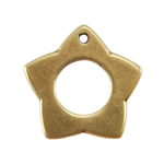 Bronze Plate Charm - Star 14mm Pkg - 1