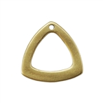 Bronze Plate Charm - Trillion 12mm Pkg - 1