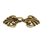 Bronze Plate Hook & Eye Clasp - Florence 16mm x 35mm - 1 Set