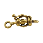 Bronze Plate Ball & Joint Clasp - Small Barrel 7mm x 17.5mm - 1 Set