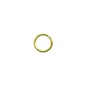 Bronze Plate Jump Ring - 7mm Pkg - 100