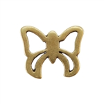 Bronze Plate Jump Ring - Fancy Butterfly 10.5mm x 13mm