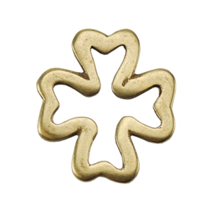 Bronze Plate Jump Ring - Four Leaf Clover 12mm Pkg - 2