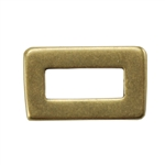 Bronze Plate Jump Ring - Rectangle Small 5.5mm x 9mm Pkg - 2