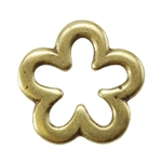 Bronze Plate Jump Ring - Flower Medium 12mm Pkg - 2