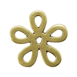 Bronze Plate Jump Ring - Flower Large 14mm Pkg - 2