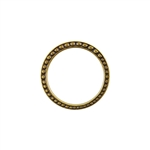 Bronze Plate Jump Ring - Fancy Dotted 25mm